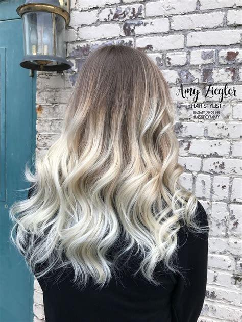 platinum blonde balayage ombre  natural root  atamy