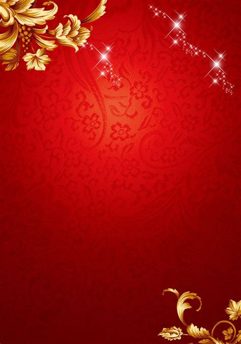 chinese  year red floral pattern background