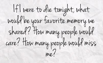 What If I Die Tonight Quotes