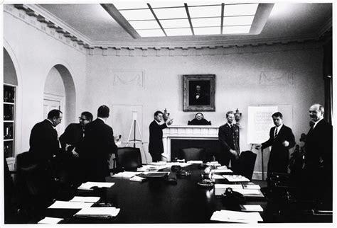 F Kennedy Cabinet Members by President Kennedy And Members Of His Cabinet At A Cabinet
