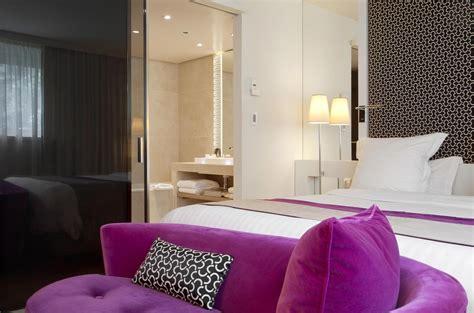 chambre deluxe vue salle de bains la villa maillot spa luxsure