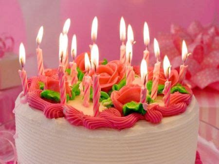 beautiful birthday cakes  flowers  candles