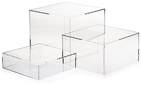 plexiglass mirror clear acrylic cube set of 3