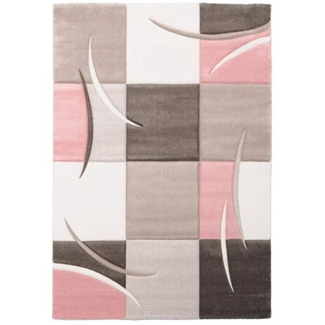 tapis gris  rose idees de decoration interieure