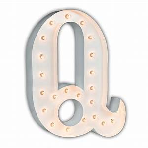 white 24 inch letter q marquee light by vintage marquee lights With white marquee letters
