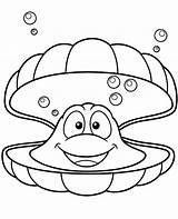 Coloring Clam Cartoon Topcoloringpages sketch template