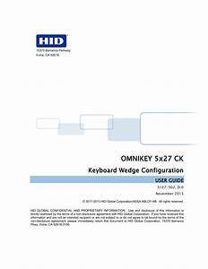Hid Omnikey 5427 Ck Keyboard Wedge User Guide User Manual