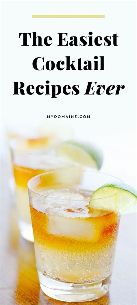 best 25 simple cocktail recipes ideas on pinterest