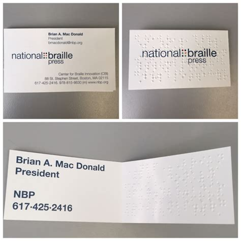 braille business cards nbp