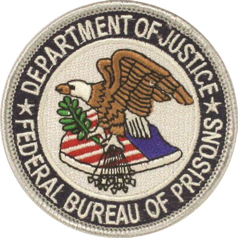 cp us corrections federal bureau of prisons patch us