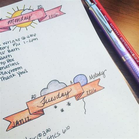 awesome bullet journal weekly layout ideas