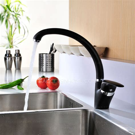 black kitchen sink faucets modern rotatable black most reliable kitchen sink faucets