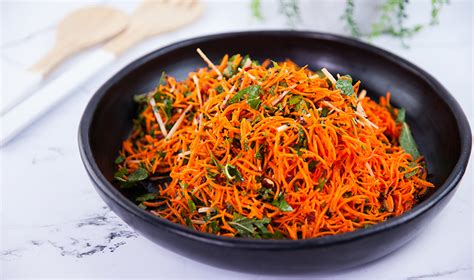 everyday gourmet spicy carrot salad