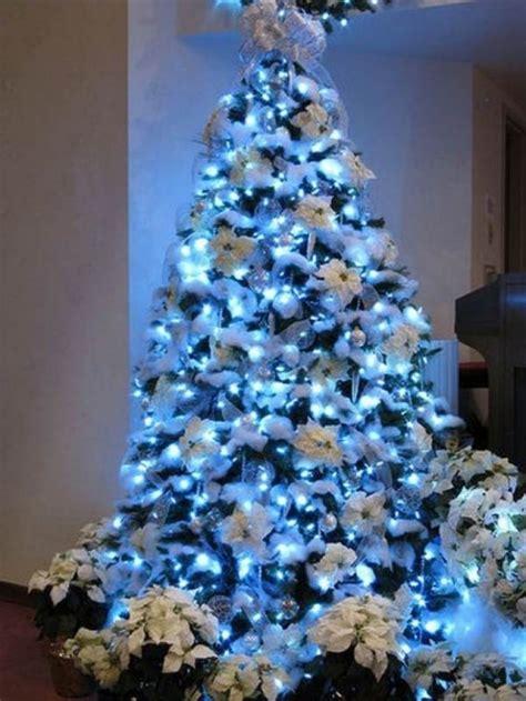 christmas tree decoration blue and silver designcorner