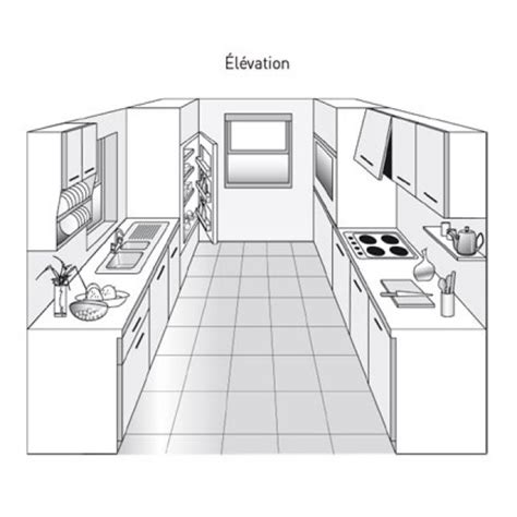 cuisine parall鑞e avec ilot stunning cuisine parallele gallery antoniogarcia info antoniogarcia info