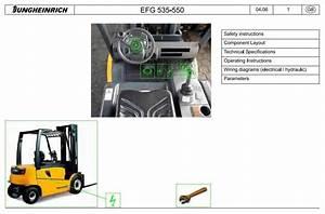 Jungheinrich Electric Lift Truck Efg 535  Efg 540  Efg 545