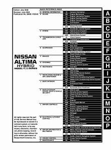 2009 Nissan Altima Hybrid Service Repair Manual