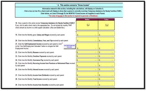 free divorce property division worksheet pyd expenses