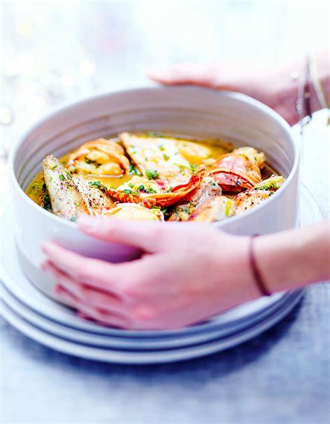 cuisine et vin de recette poulet et langouste au vin jaune pour 6 personnes