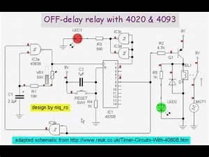 Off-delay Relay With 4020  U0026 4093