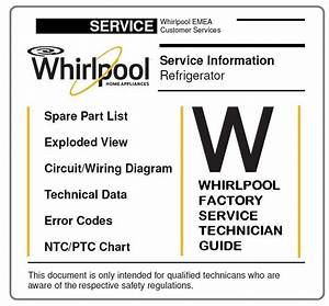 Whirlpool Art 6601 A  Refrigerator Service Manual