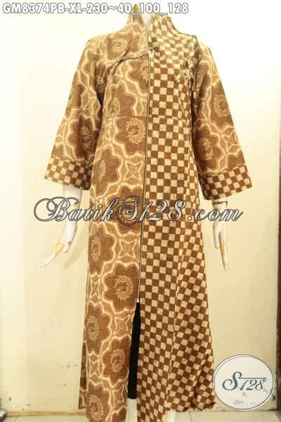Gamis Batik Elegan Motif Kombinasi, Busana Batik Wanita