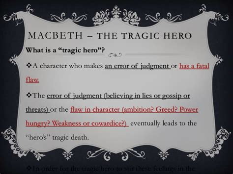 Macbeth tragic hero essay quotes