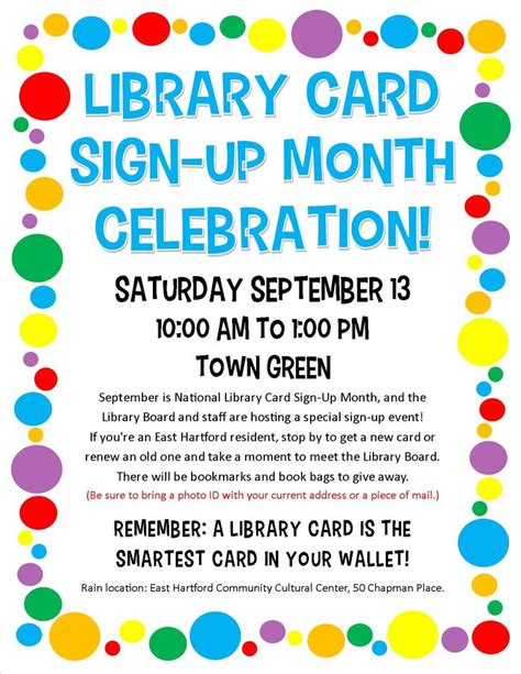 1000+ Images About Library Card Signup Month On Pinterest