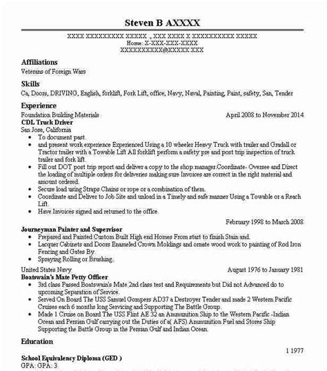 Truck Drivers Resume by Trucker Resume Dscmstat Us Dscmstat Us