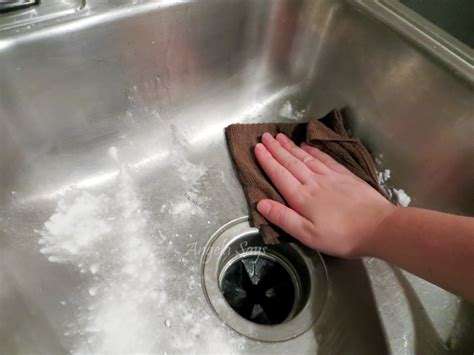 how to shine stainless steel sink the secret to cleaning stainless steel sinks angela says