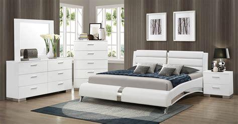 coaster bedroom furniture coaster felicity platform bedroom set white 300345 bed
