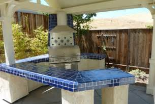 blue countertop kitchen ideas cobalt blue mexican talavera tile on a bbq countertop mexican home decor gallery mission