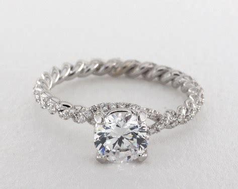 danhov eleganza braided engagement ring platinum
