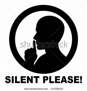 Vector Images, Illustrations and Cliparts: silent please ...