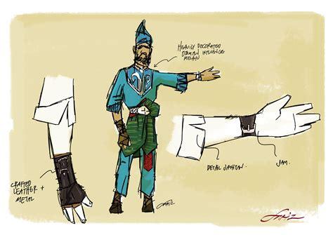 character design melaka shahbandar pahlawan melayu