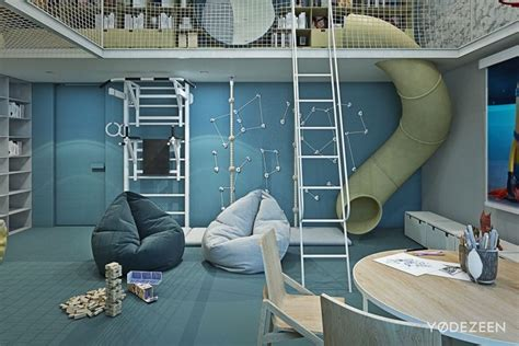 bureau petit espace aménagement intérieur maison de luxe adaptée aux enfants