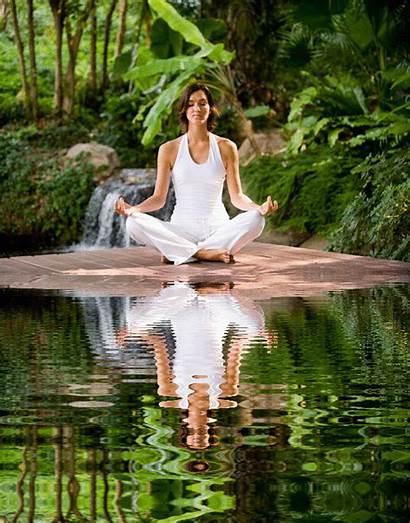 Yoga Zen Meditation Meditating Gifs Relaxing Silence