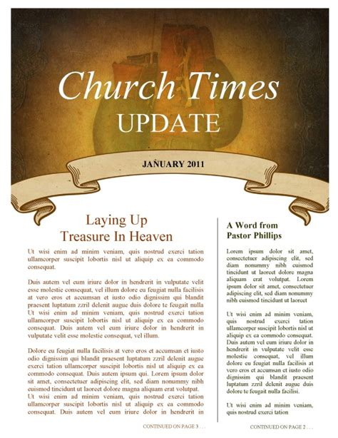 church newsletter templates mission update newsletter template template newsletter templates