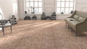 parquet massif chene mosaique brut design interieur With parquet mosaique blanchi