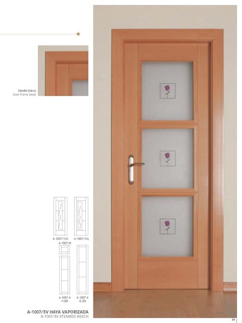 Inside Doors by Artema A1007 Beech Glass Inside Door Bespoke Sizes