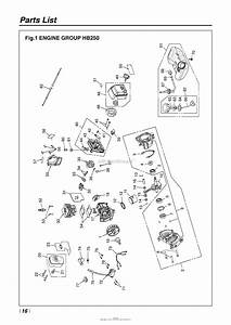 Red Max Hb250 05 S  N Ku413473  U0026 Up Parts Diagram For