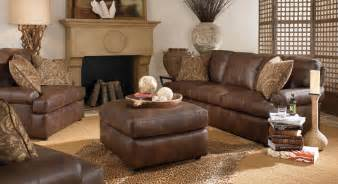 Dark Brown Leather Couch Living Room Ideas by Rustic Living Room Appears Fantastic Performance