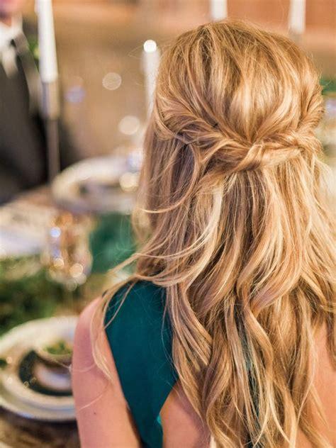 Wavy Half Updo Hairstyles by 25 Chic Bridesmaid Hairstyles For Hair Weddingomania