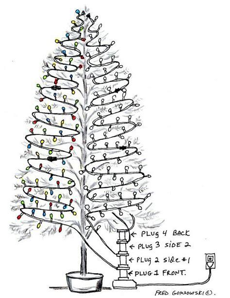 christmas tree lights diagram festive