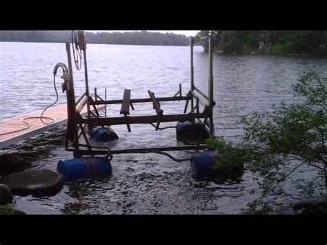 Boat Lift Out Of Water by Boat Lift Needs A Lift Youtube