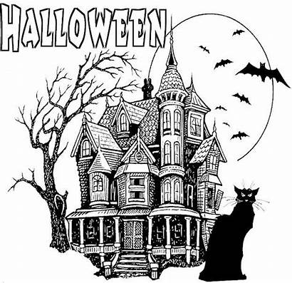 Halloween Scary Drawings Coloring Pages Adult Adults