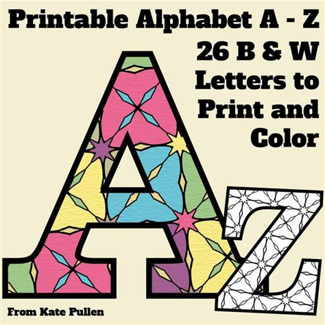 printable alphabet letters a4 size coloring 1000 images about bulletin board letters on 11037
