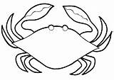 Crab Coloring Colouring Printable Template Animalplace Pot sketch template