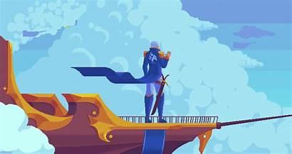 Kirokaze Pixel Sky Animation Fi Sci Funny