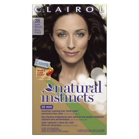 clairol natural instincts  permanent hair color